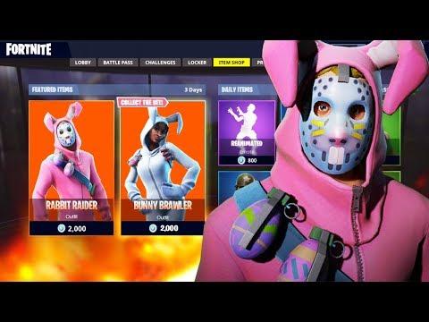 Rabbit Raider And Bunny Brawler Skin In Fortnite Rabbit