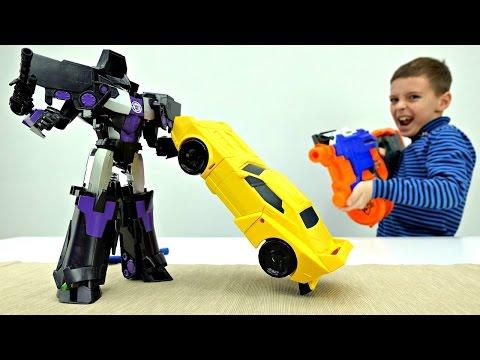 Мультик для мальчиков 4 Роботы Трансформеры игра прохождение [1-я часть]