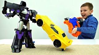 #Трансформеры: АВТОБОТЫ ОПТИМУС ПРАЙМ и БАМБЛБИ сражаются с Десептиконами! Игры для Мальчиков