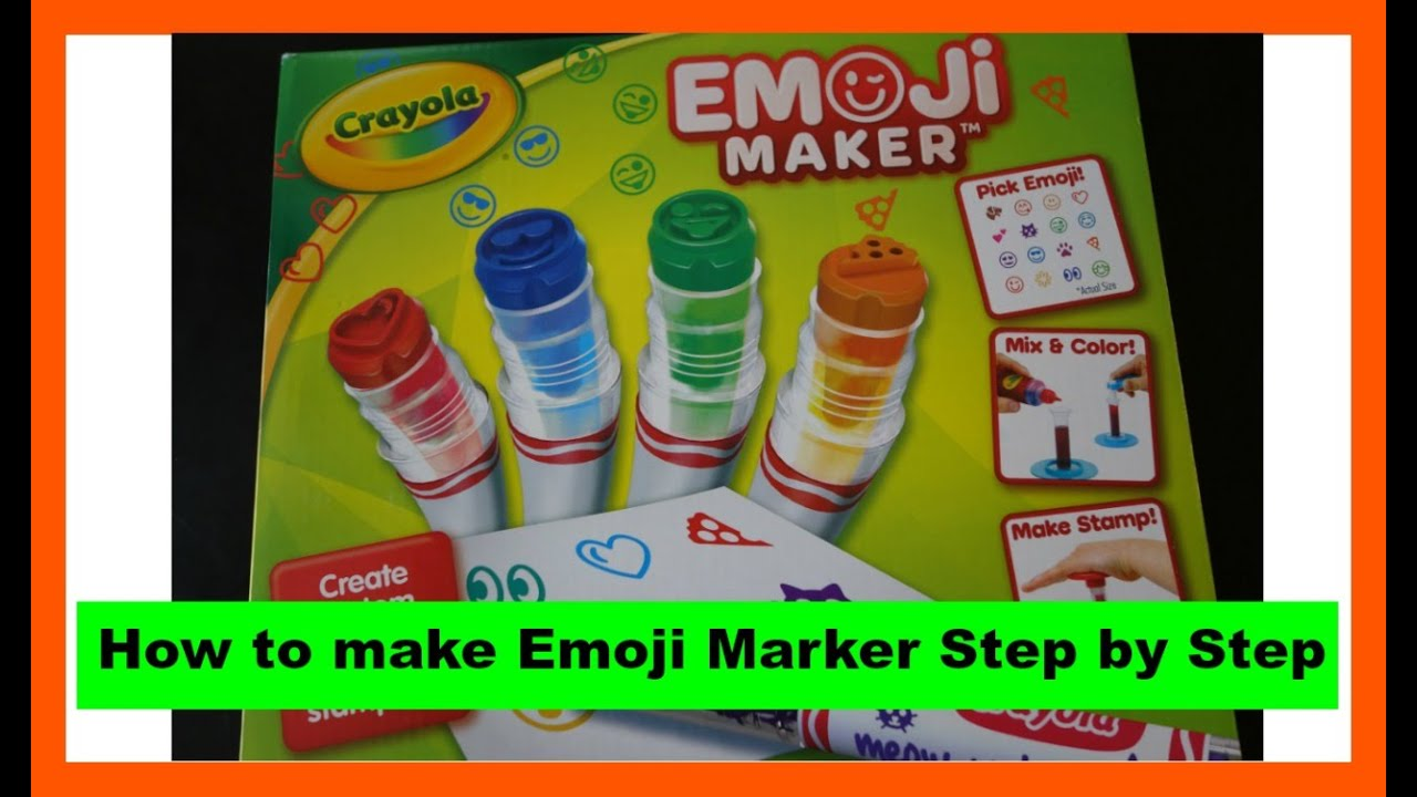 CRAYOLA Emoji Marker Maker~How to Make it step by step - YouTube
