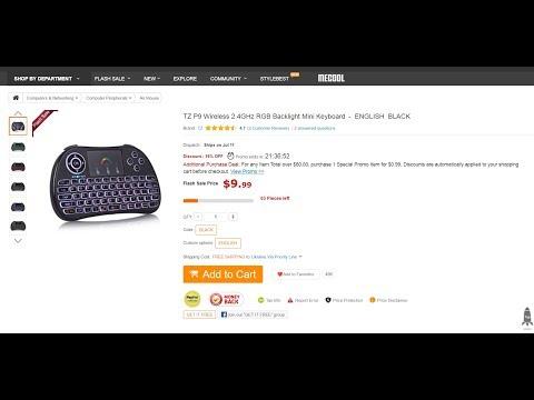 ae06e3e2afa TZ P9 Wireless 2.4GHz RGB Backlight Mini Keyboard / GearBest - YouTube