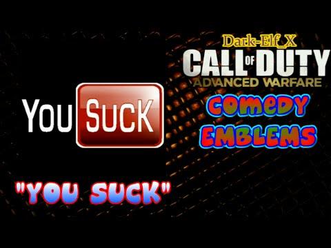 Advanced Warfare Emblem - You Suck ( YouTube ) ( Comedy Emblem ) Funny