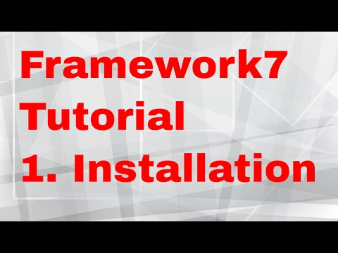 Framework7 Tutorial 8 Initialize app - android ios