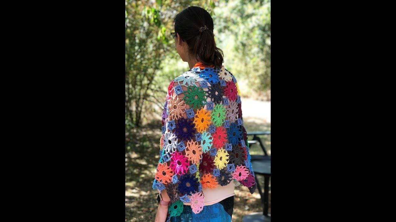 Haak Tutorial Bloemen Omslagdoek Haken Met Scheepjes Colour Pack