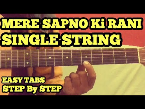 Mere Sapno Ki Raani Guitar Tabs/Lead Lesson | SINGLE STRING | Easy For Beginners | fuZaiL Xiddiqui