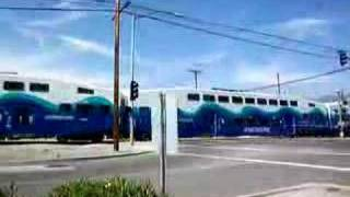 Metrolink Train, Burbank, California