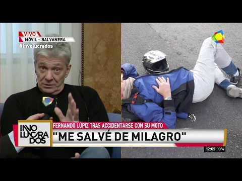 Fernando Lupiz tras su accidente: Se me rompieron dos costillas