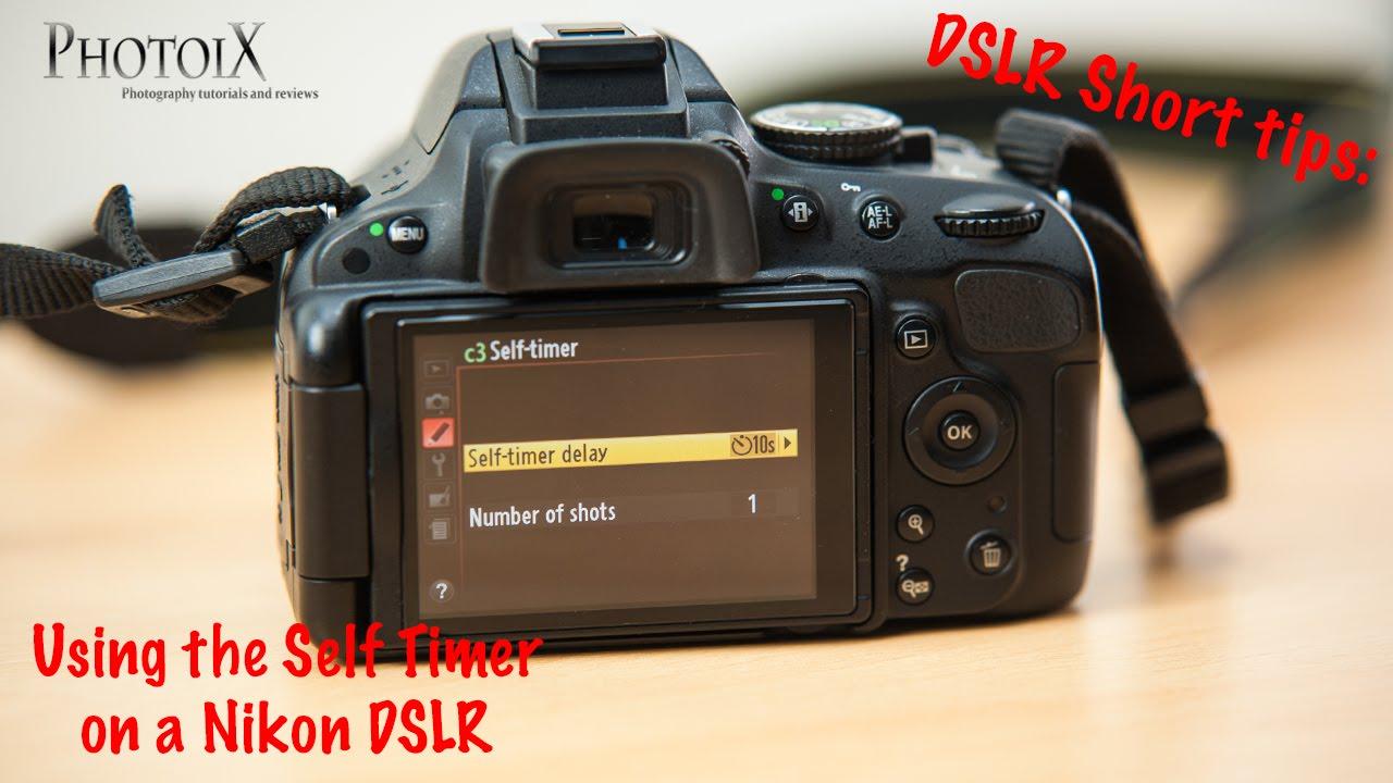 Nikon D5100 short tips: Setting the self timer