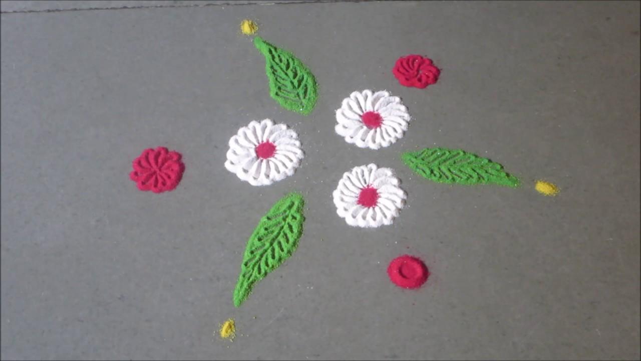 Small Rangoli Design YouTube