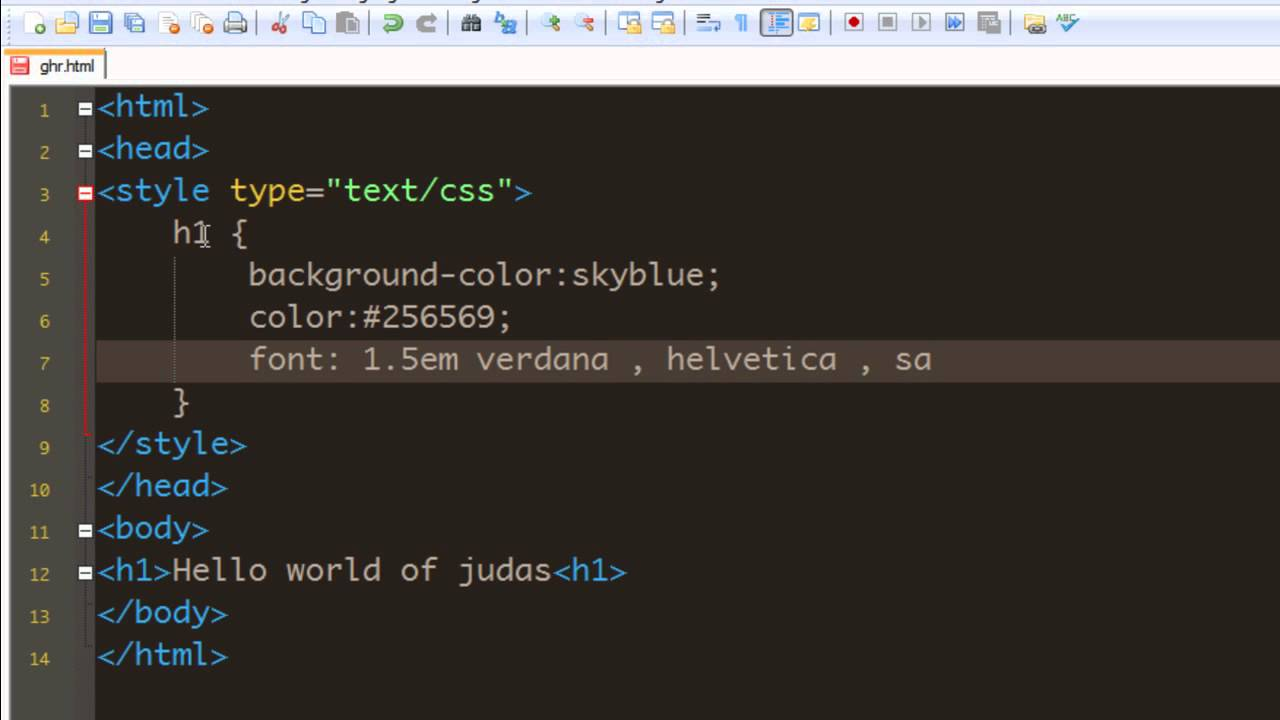 CSS Tutorial - 22 Adding a Background Color to heading.mp4 ...