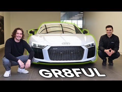 Picking Up My Dream Car! 2017 Audi R8 V10 Plus + Laser Retrofit