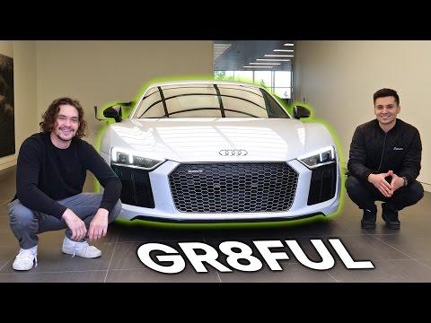 Picking Up My Dream Car! 2017 Audi R8 V10 Plus + Laser Retrofit