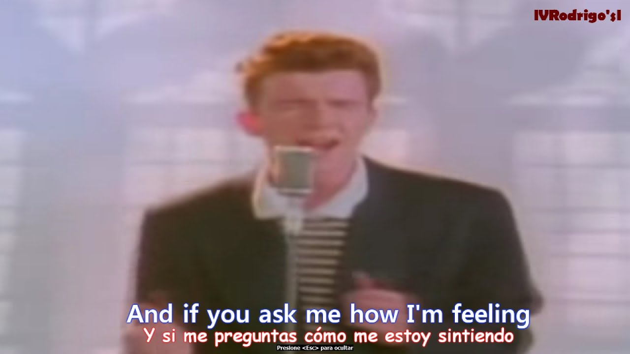 rick astley never gonna give you up lyrics y subtitulos