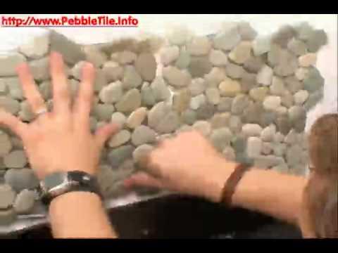 Diy Pebble Tile Install Youtube