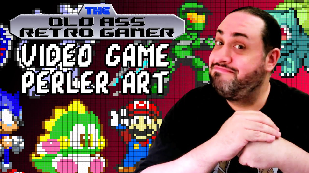 VIDEO GAME PERLER ART | The Old Ass Retro Gamer