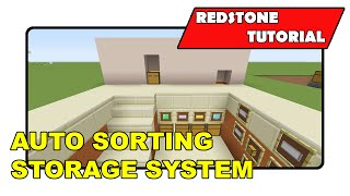 "Auto Sorting Storage System [simple] ""redstone Tutorial"" (minecraft Xbox/playstation/ps Vita)"