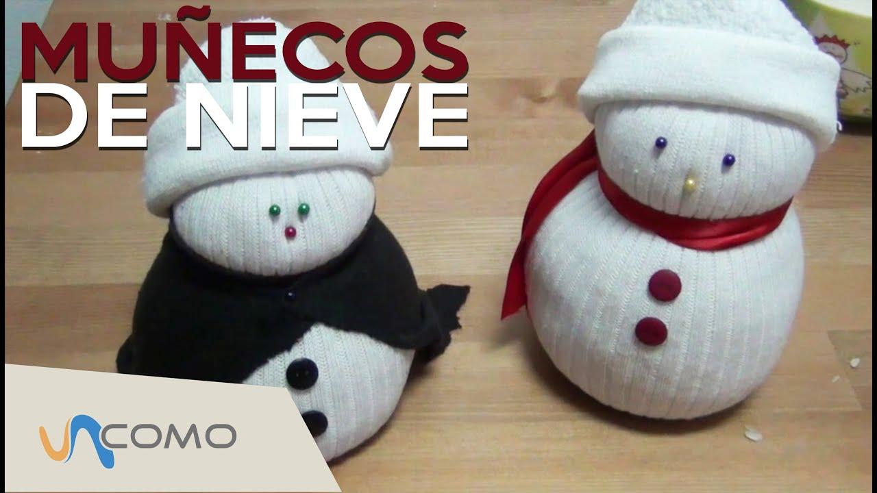 Manualidades de navidad f ciles mu ecos de nieve youtube - Manualidades faciles navidad ...