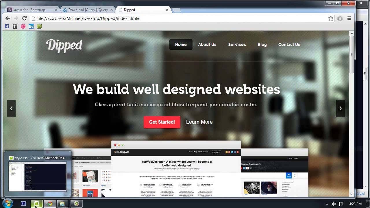 Twitter Bootstrap Tutorial Make Website Design Responsive And Mobile Friendly Part 6 Youtube