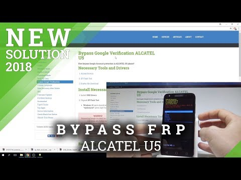 How to Bypass Google Verification in ALCATEL U5 - Unlock FRP