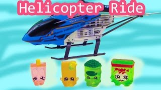 Shopkins Flying Helicopter Ride - GYRO Hercules Unbreakable Frozen Figures Toy Review Unboxing