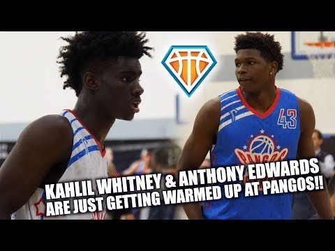 Anthony Edwards & Kahlil Whitney are JUST GETTING STARTED at PANGOS!!  Night 1 Highlights