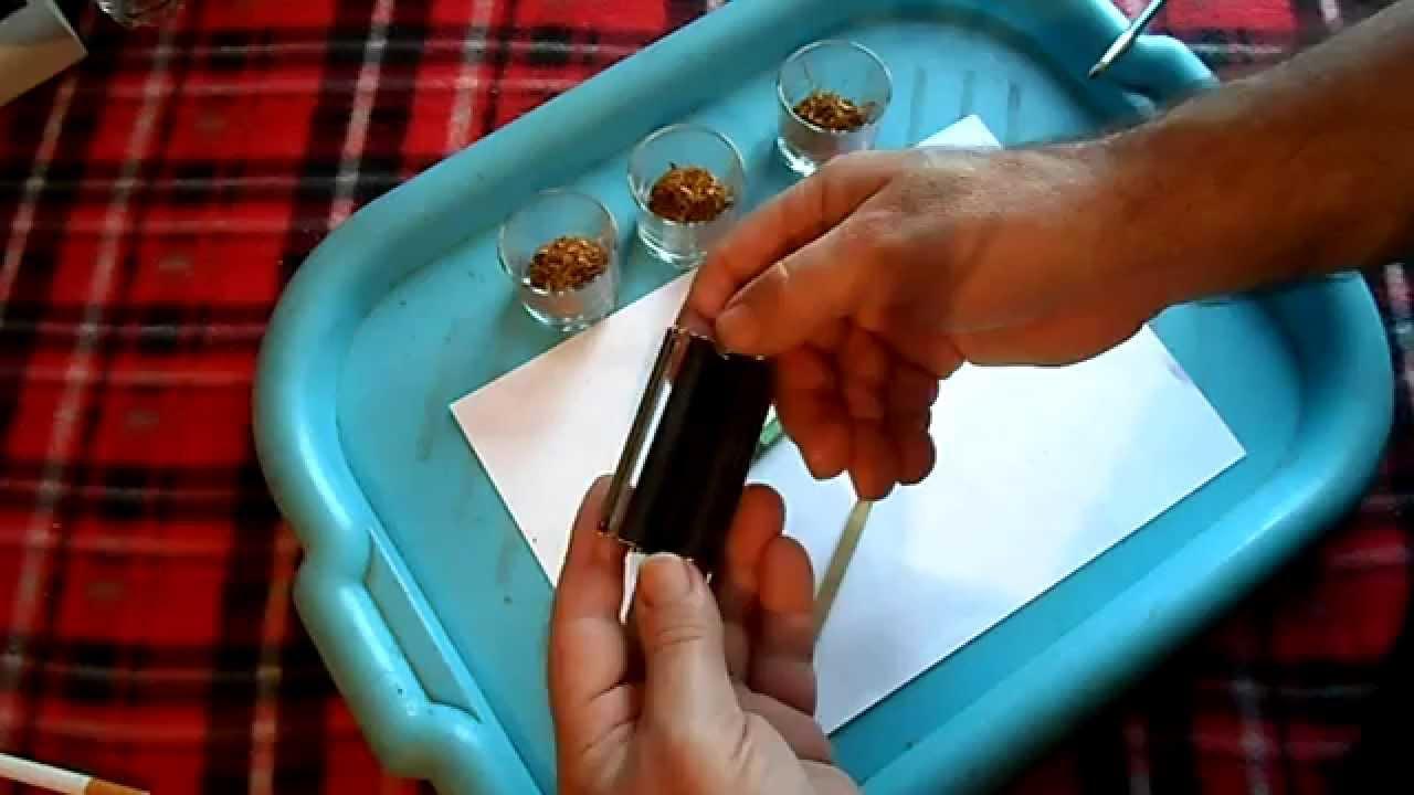 Купить машинки для набивки табака в киевской области цены, товары и услуги. Машинка для самокруток 11014 в метал. Табакерке, 70 мм, 6/8 мм.