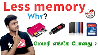 Why Pen Drive/Hard Disk Have Less memory ? மெமரி எங்கே போனது ?