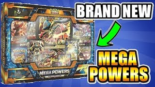 4 FULL ARTS - 8 PACKS - ERROR PACK - BRAND NEW! MEGA POWERS Collection Box Opening of Pokemon Cards