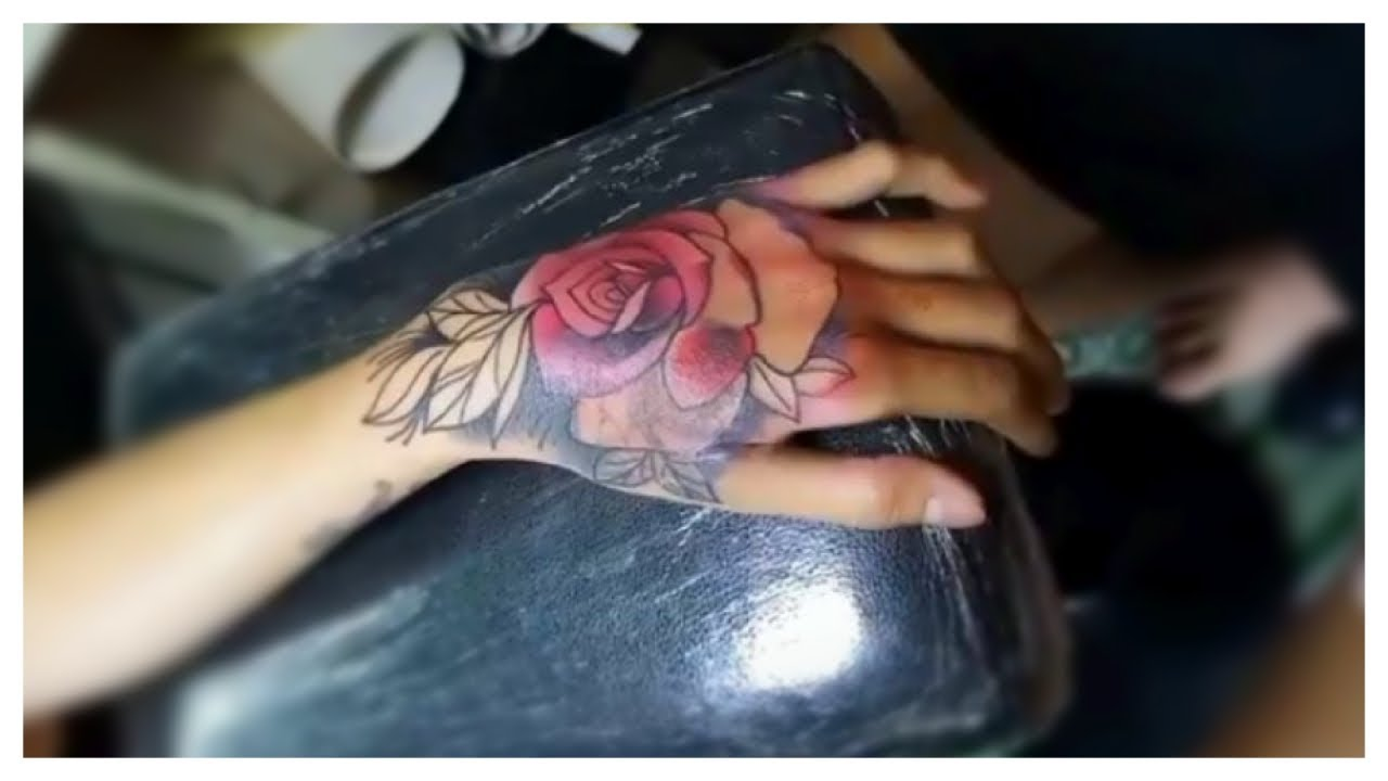 Red Rose Tattoo Time Lapse Youtube