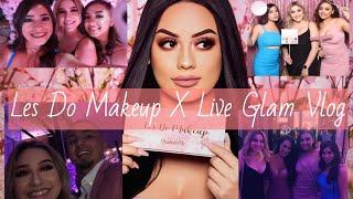 Les Do Makeup X Liveglam | Launch Party Vlog