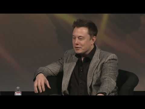 47.Elon Musk talks about carbon tax, Mars &energy at AGU (20