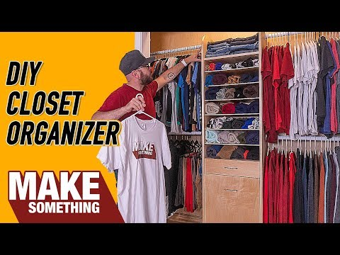 DIY Closet Organizer With Laundry Hamper | Easy Woodworking Project