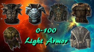 Skyrim How To Get Level 100 Light Armor WITH EASE!!!