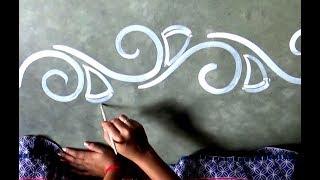 Freehand border rangoli designs,Side Kolam designs