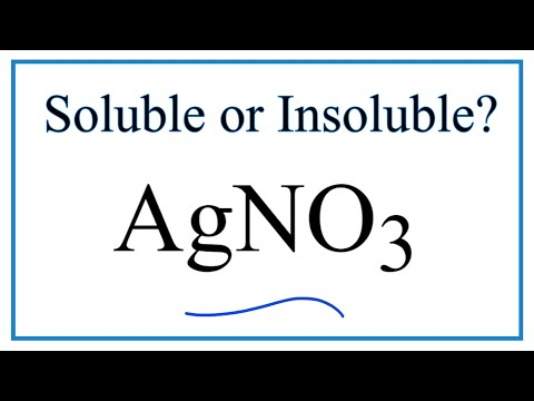 Is AgNO3 Soluble Or Insoluble In Water?