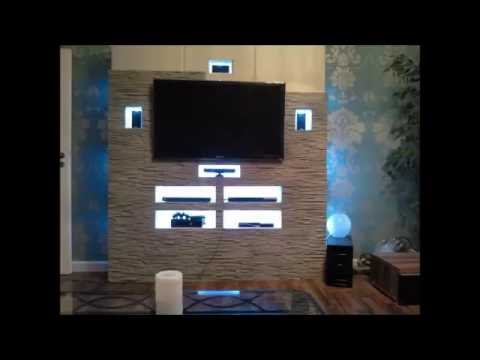 tv wand mit riemchen youtube. Black Bedroom Furniture Sets. Home Design Ideas