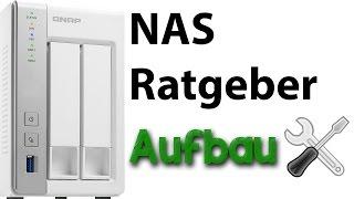 NAS Ratgeber - Aufbau - Das NAS und die Festplatten verschrauben