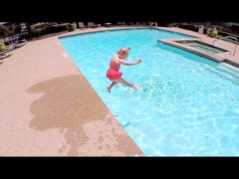 Baby Swims Across Pool Part 3