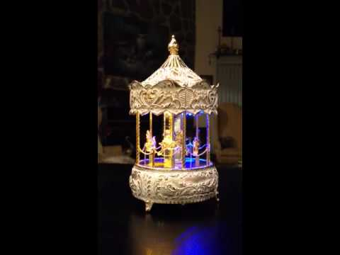 TheMusicHouse.Com - Carousel Music Box with Fantasy-like Lights plays