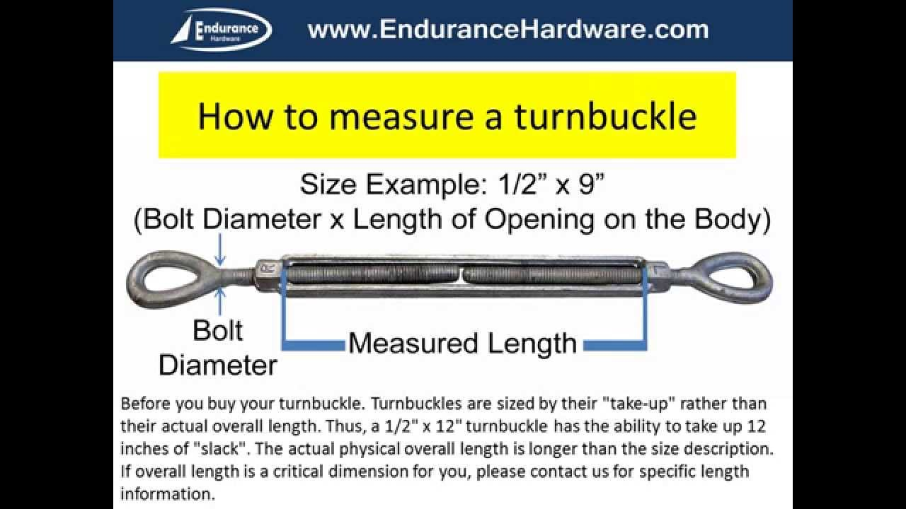 How to measure a turnbuckle  YouTube
