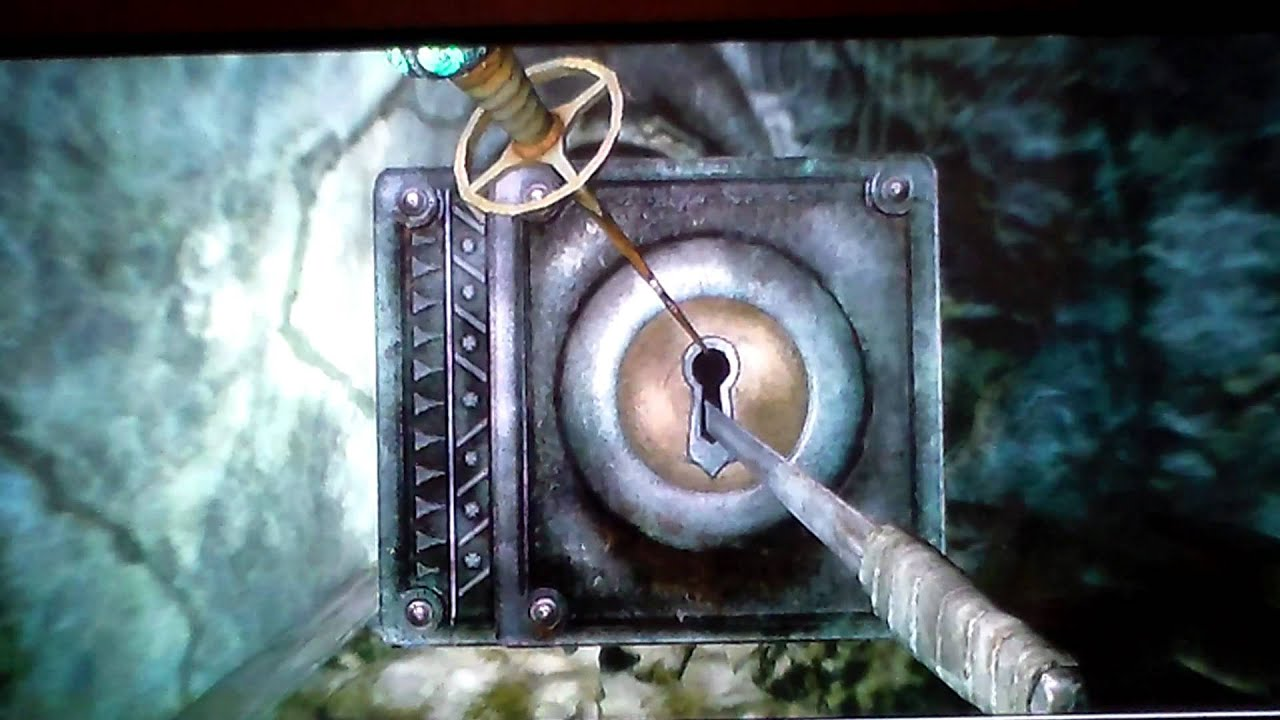 How To Pick Master Lock With Skeleton Key Skyrim Youtube