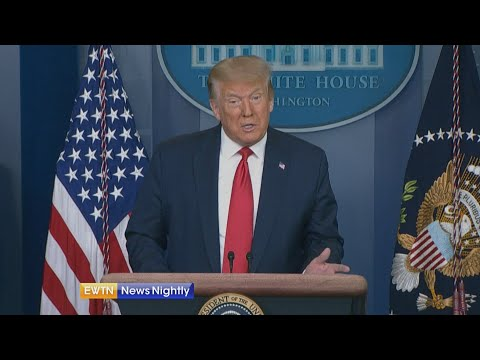 President Donald Trump announces growing job numbers and a record increase in retail sales   EWTN