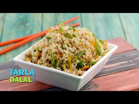 चाईनिज फ्राईड राईस (Chinese Fried Rice (Delicious Diabetic Recipe) by Tarla Dalal