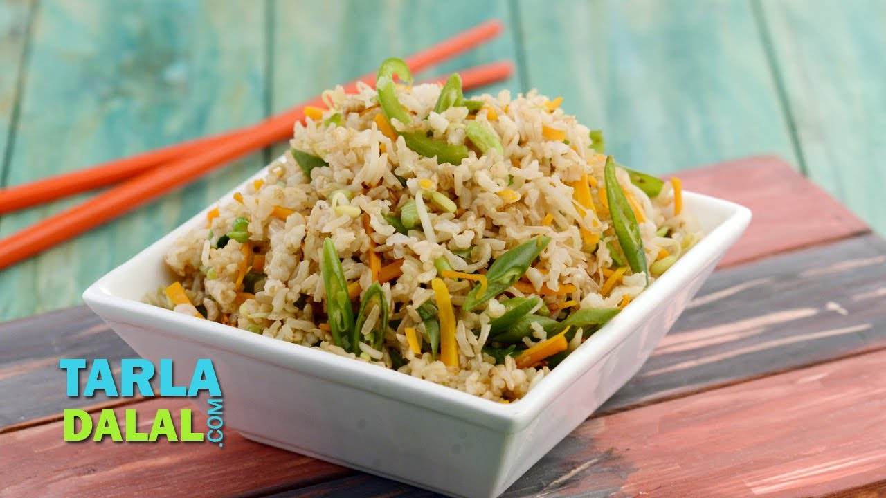 chinese fried rice delicious chinese fried rice delicious diabetic recipe by tarla dalal youtube forumfinder Gallery