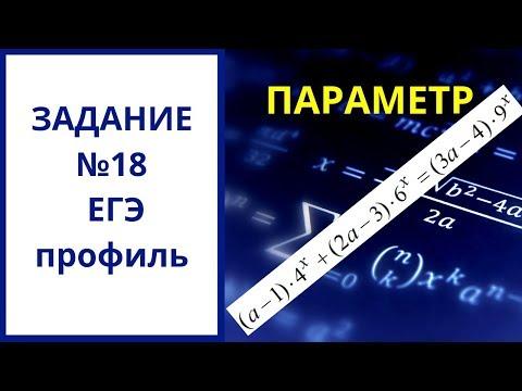 № 18 ЕГЭ Параметр. Уравнение показательное с параметром