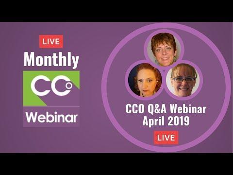 CCO LIVE Q&A Webinar April 2019