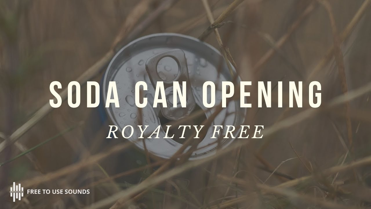 Free Soda Can Opening Sound Effect - Opening Whoosh Sound