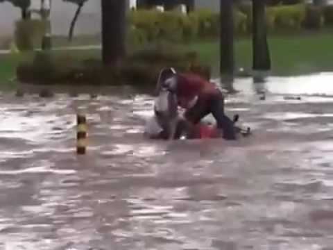 Riding A Motorcycle During A Flood Goes Wrong