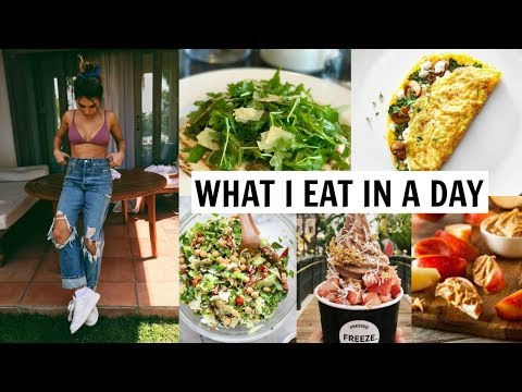 WHAT I EAT IN A DAY 2018 (healthy / how I stay in shape) l Olivia Jade thumbnail