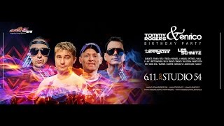 Birthday boys Tommy Rogers & Enrico - guests Les Schmitz & Jerry Joxx  6.11.15 at STUDIO54